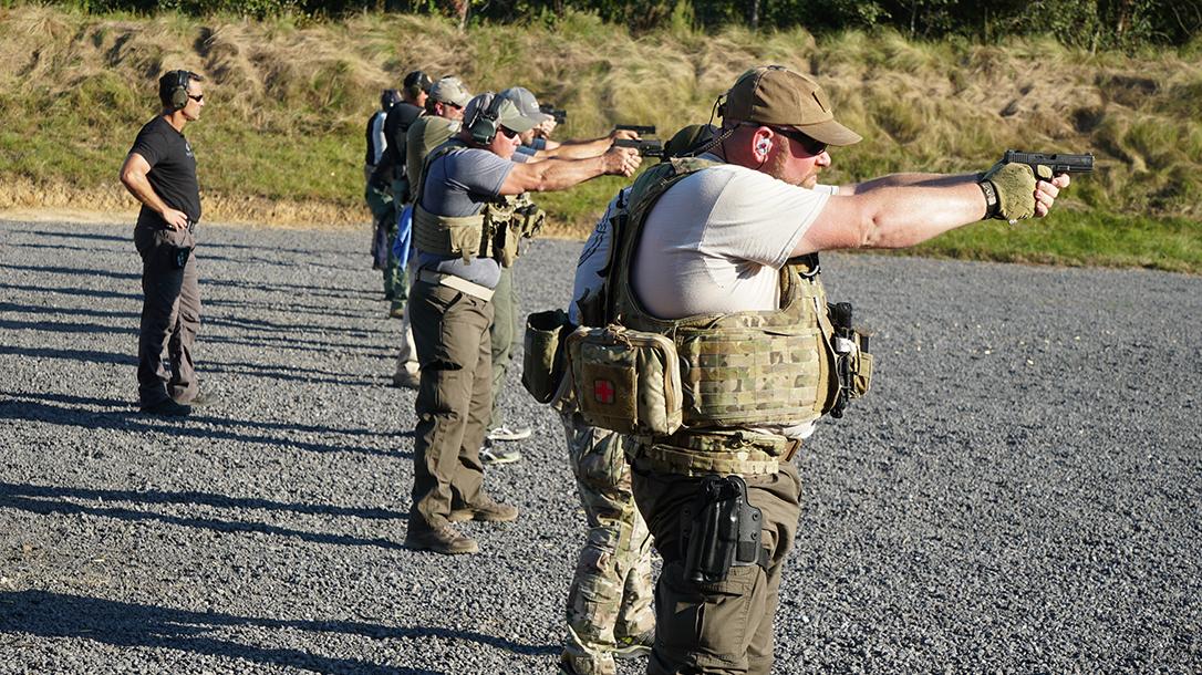 operation blue training handgun shooting