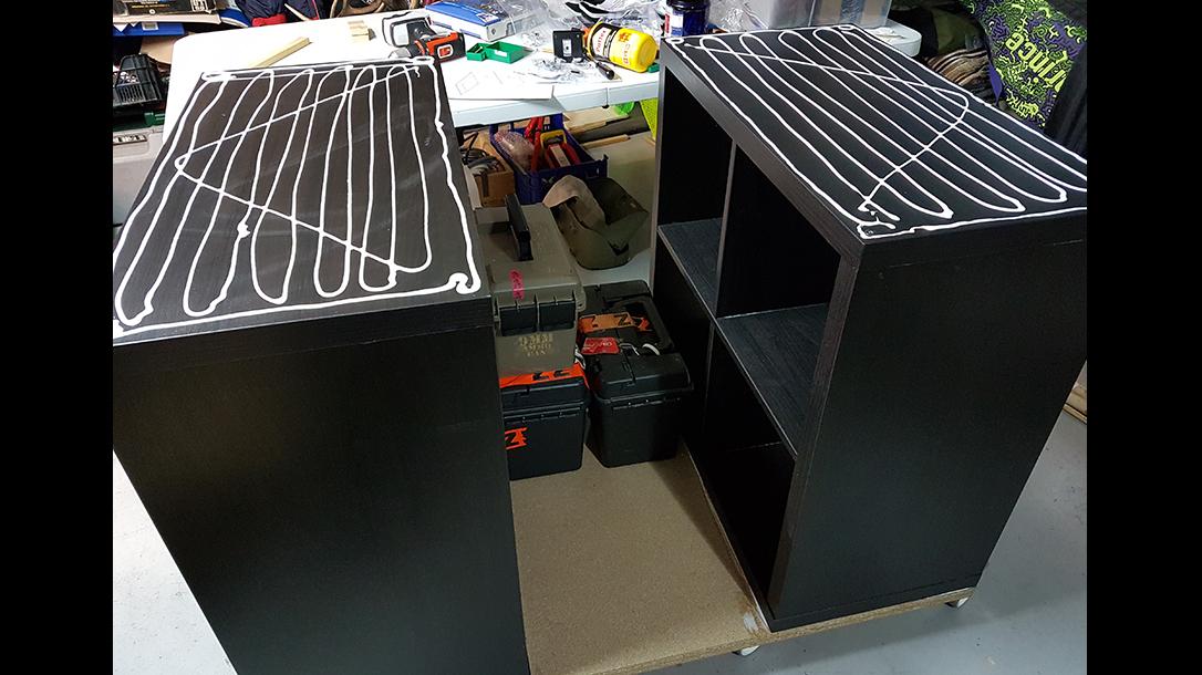 reloading bench shelves