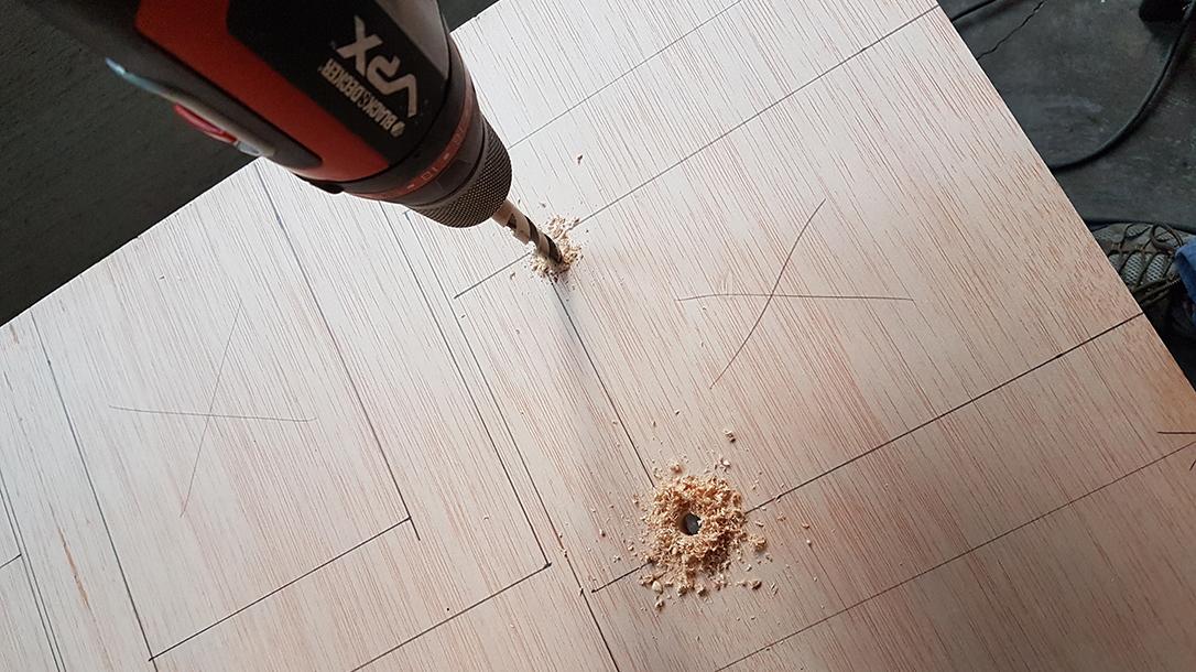 reloading bench drilling