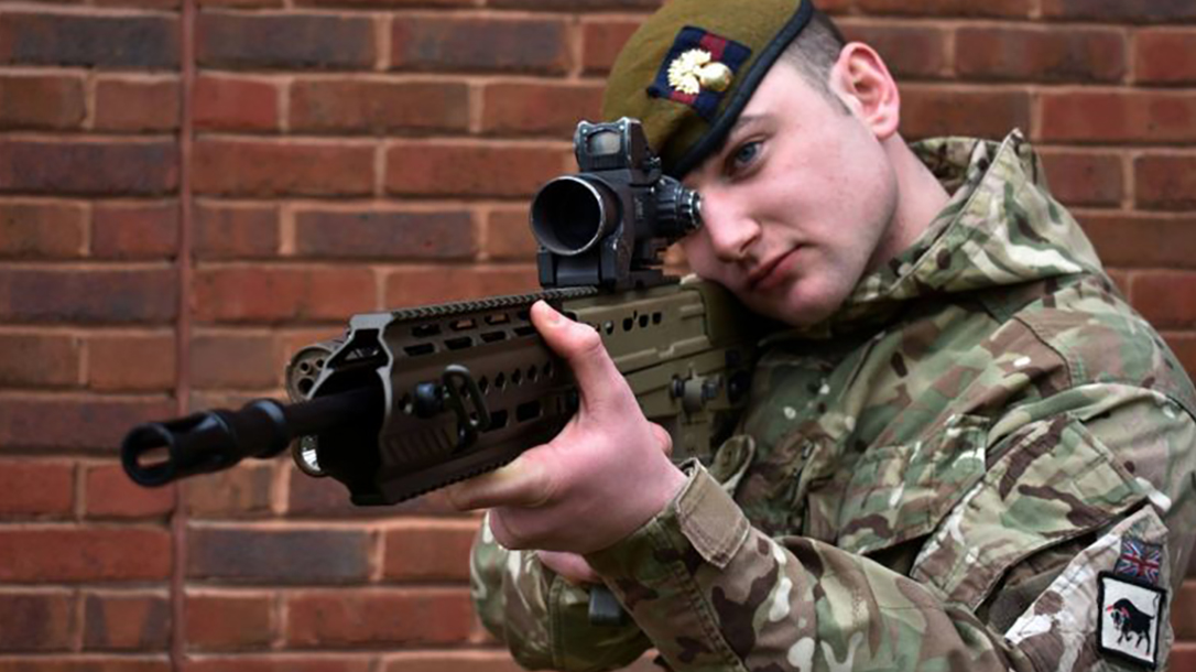 british army SA80A3 rifle scope