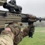 british army SA80A3 rifle right angle