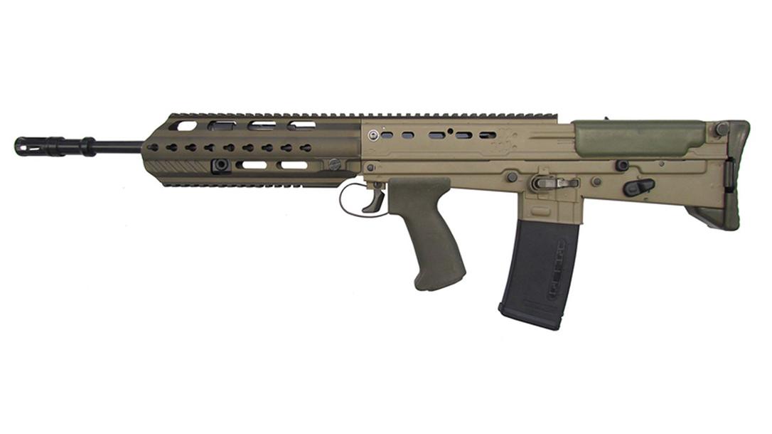 british army SA80A3 rifle left profile