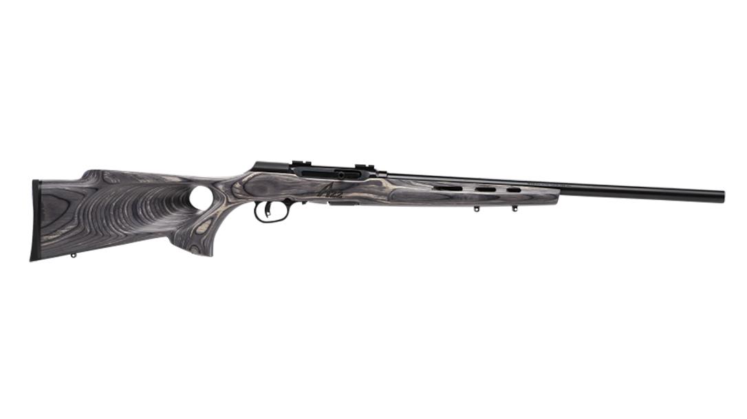 Savage A22 Target Thumbhole model rifle 110 wolverine right profile