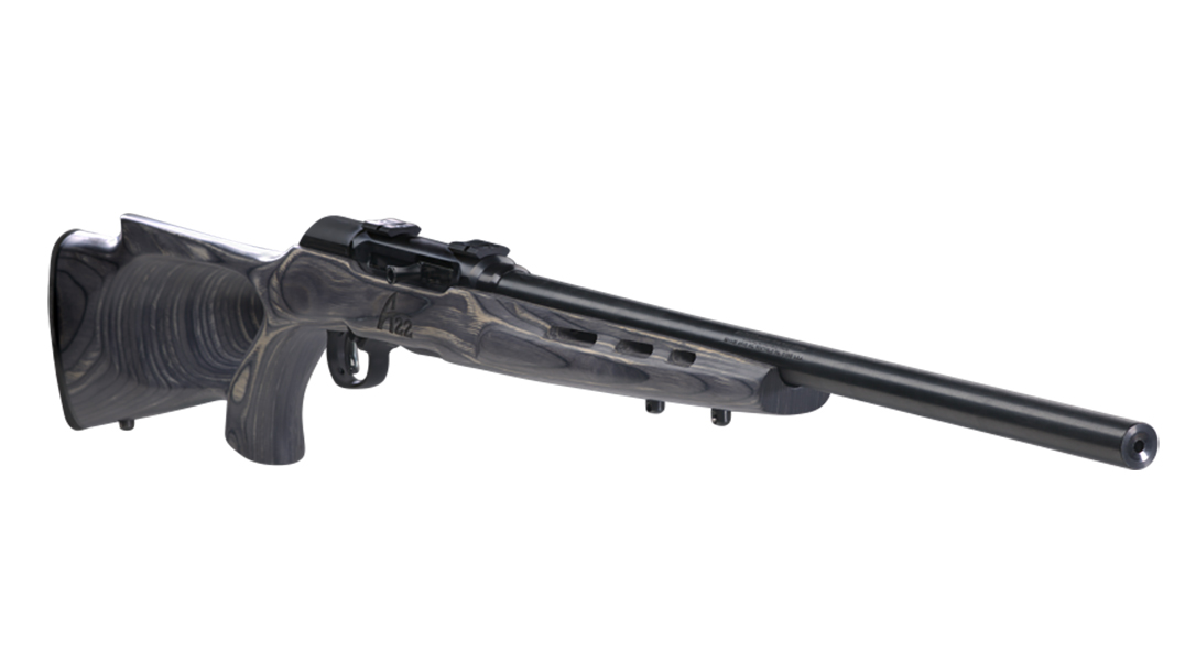 Savage A22 Target Thumbhole model rifle 110 wolverine right angle
