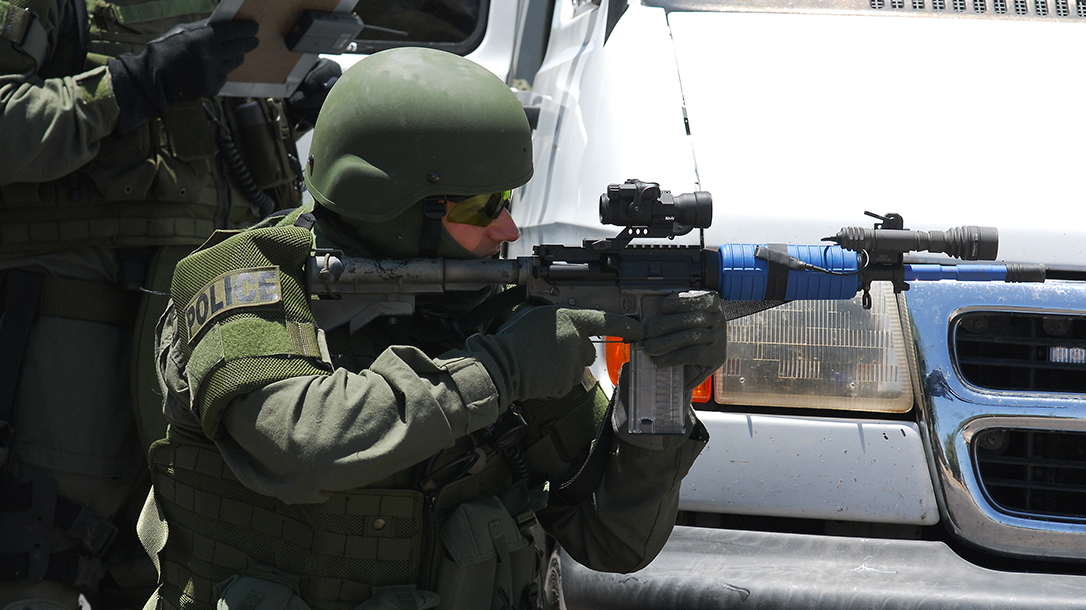 Police Shooting Rifle training