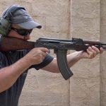 AK-47 Type 1 rifle shooting