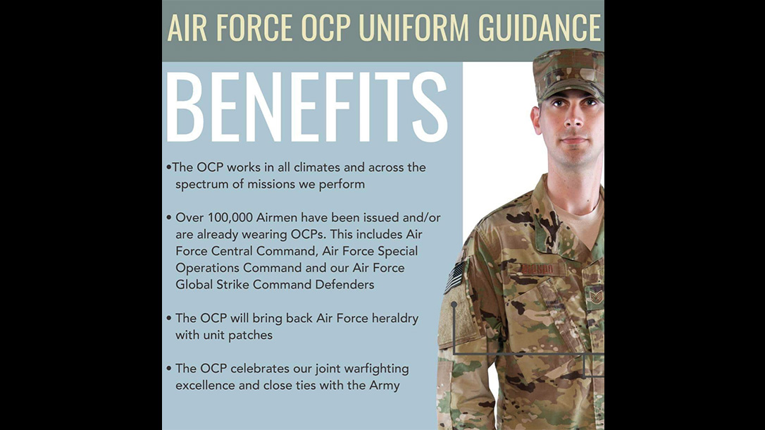new air force uniform benefits
