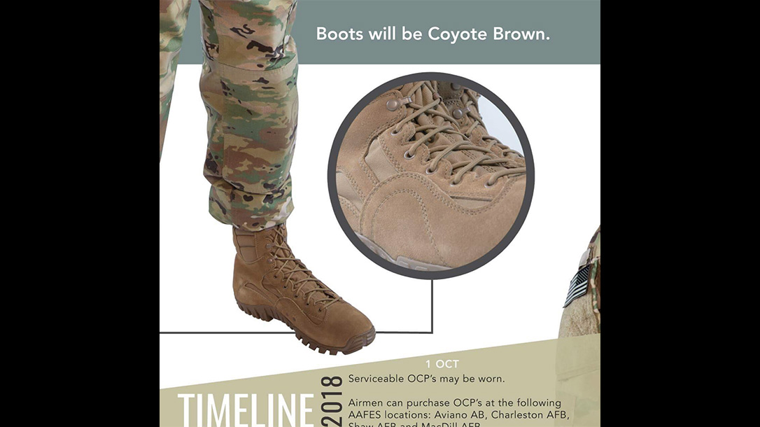 new air force uniform boots