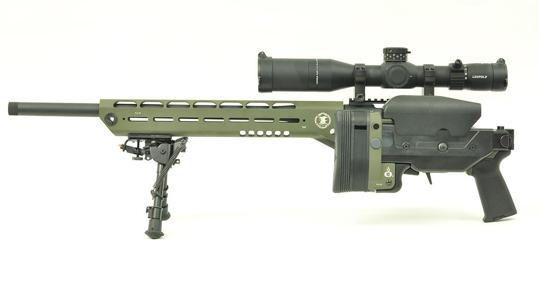 Ashbury Saber-M700 Maj. Edward James Land Tactical Rifle folded stock