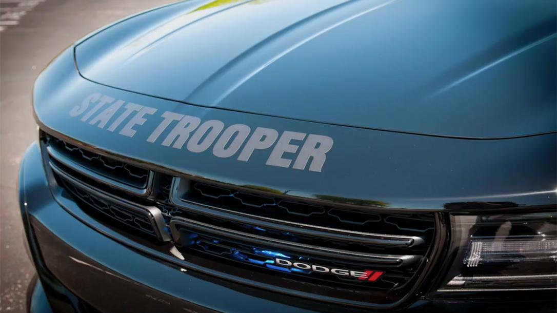 north carolina state highway patrol ghost car hood