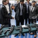 russia india ak-103 rifles table display