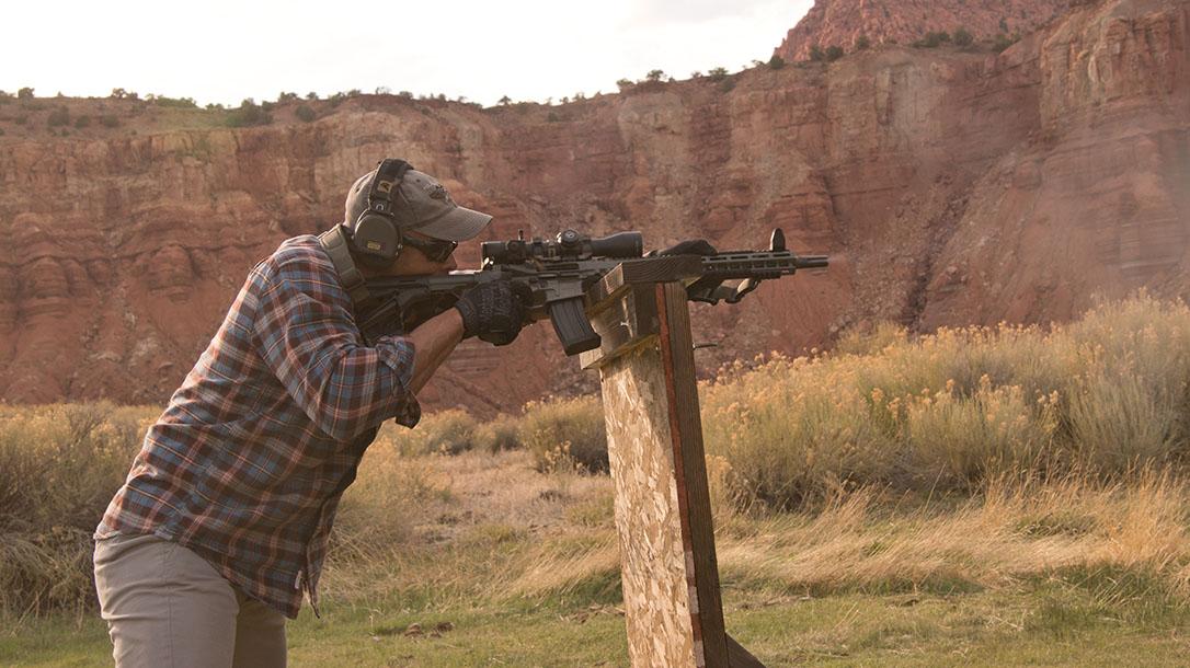 scoped carbine buck doyle standing