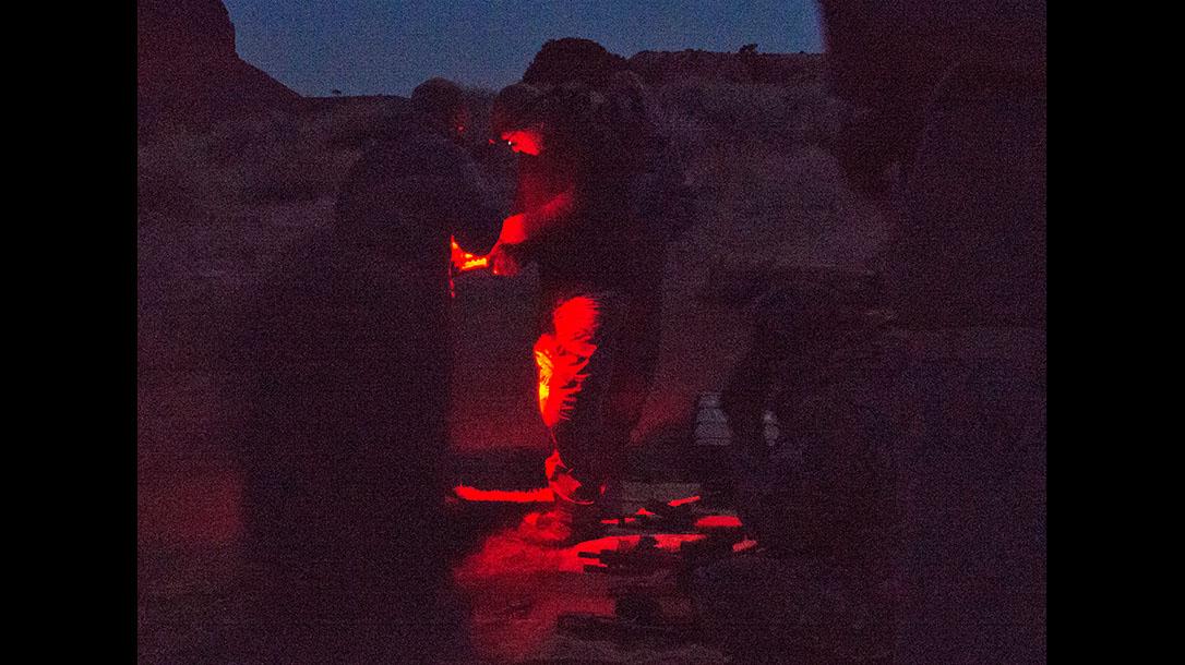 scoped carbine buck doyle red light