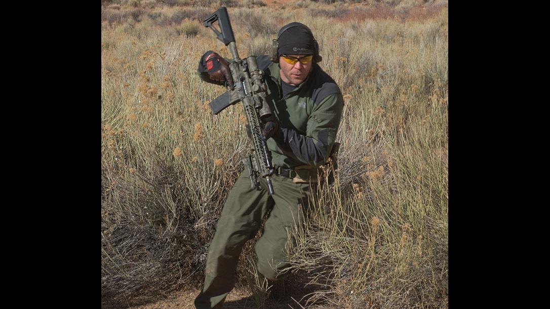scoped carbine buck doyle running