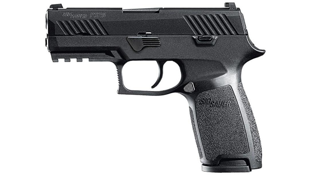 sig sauer thin blue line p320 pistol left profile