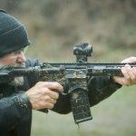 springfield saint sbr rifle shooting