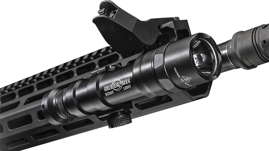 SureFire M600DF light attached rifle
