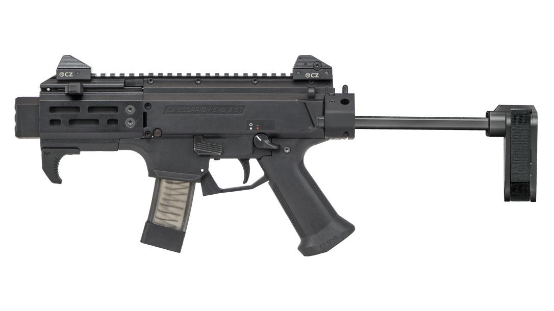 Army sub compact weapon, CZ Scorpion EVO 3 S2 Pistol Micro Brace