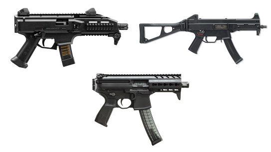 U.S. Army Sub Compact Weapon, candidates, submachine guns, subguns