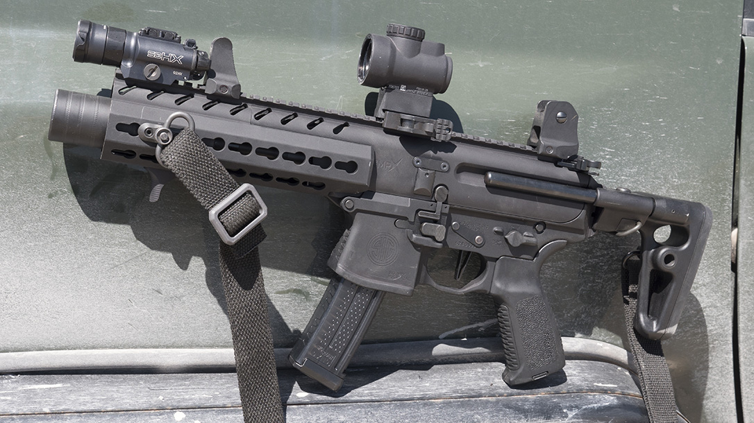 Army sub compact weapon, Sig Sauer MPX K left