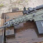 Robinson Arms XCR-M Rifle test folded stock left