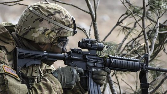 army sdmr rifle aiming