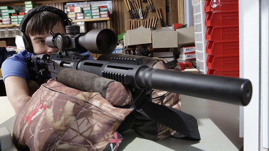 hunter cayll McMillan Alias CS5-T rifle aiming