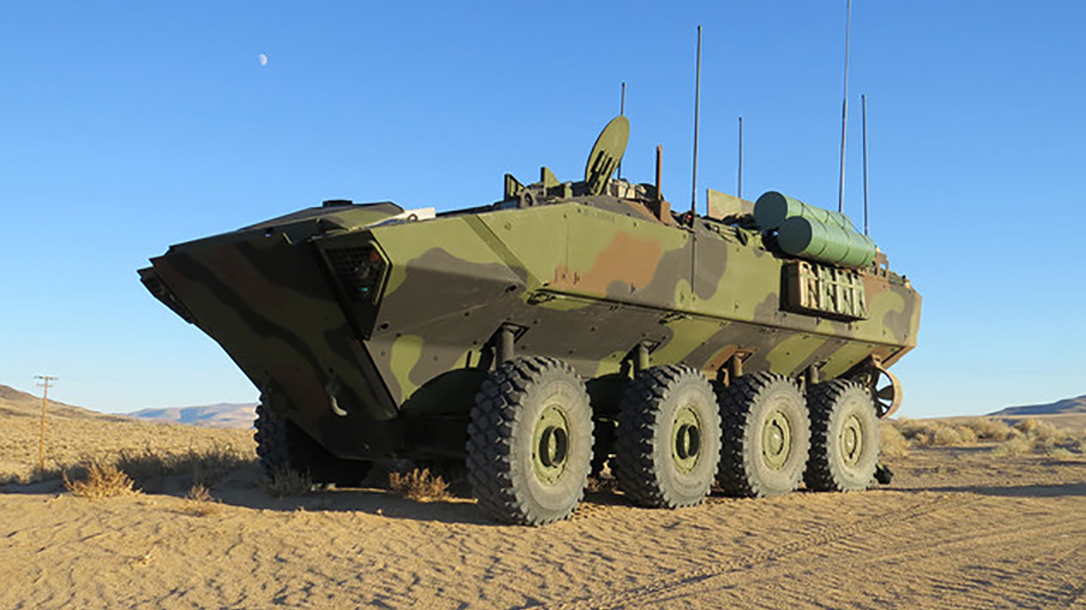 marines amphibious combat vehicle beach
