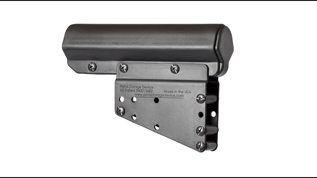 pistol storage device closeup