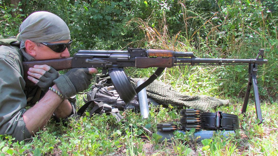rpd rpk light machine gun right profile