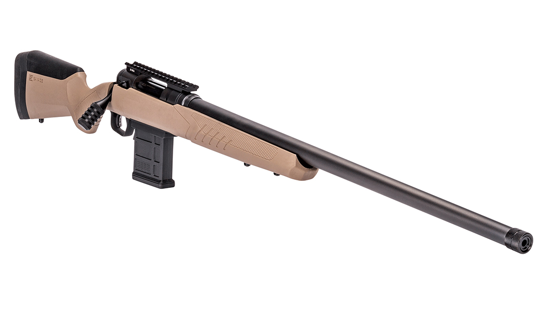 Savage Arms model 110 tactical desert rifle right angle