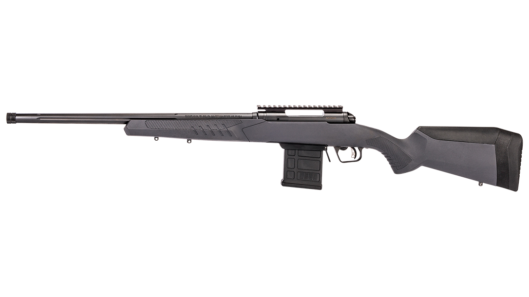 Savage Arms model 110 tactical rifle gray left profile
