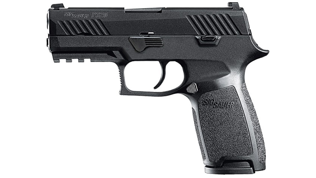 tampa police department sig p320 pistol left profile