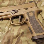 sig sauer p320 x-carry pistol denmark camo left profile