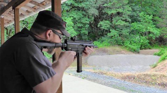 grand power stribog pistol carbine shooting test