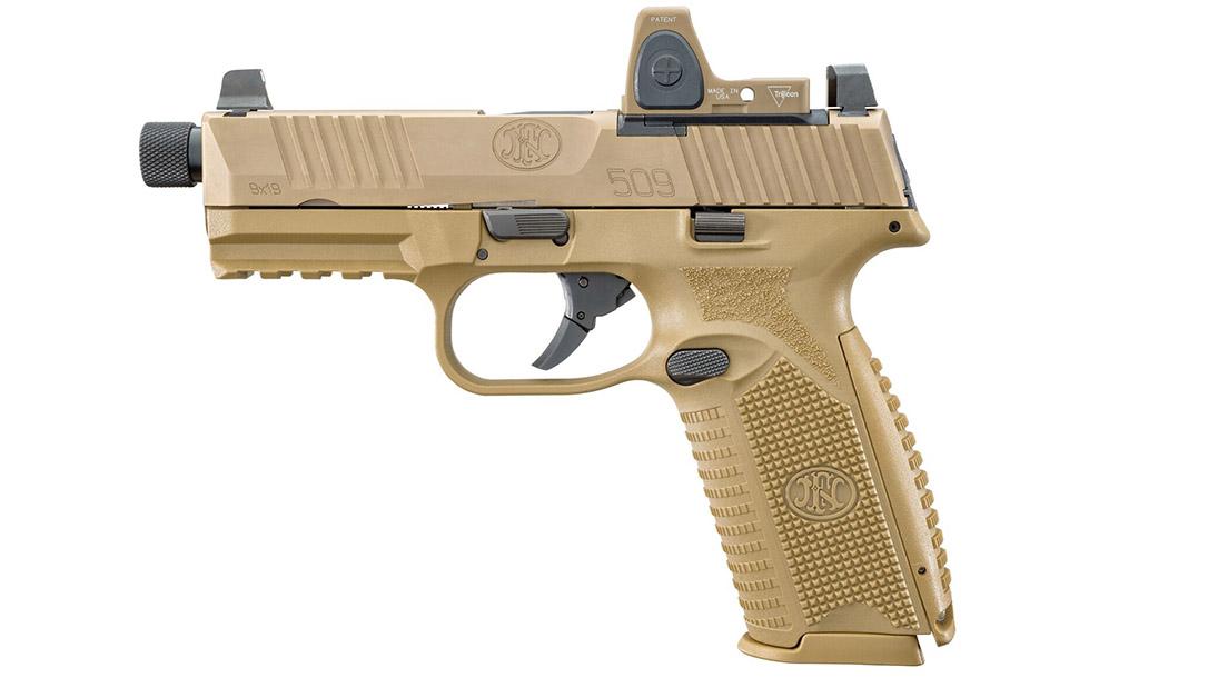 FN 509 Tactical pistol optic left profile