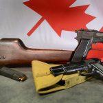 Inglis Hi-Power pistol right profile