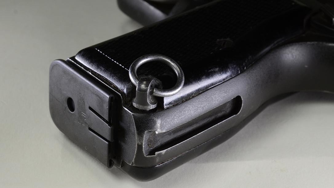 Inglis Hi-Power pistol lanyard rings