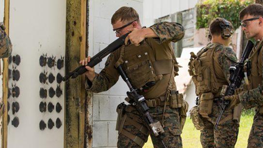 remington m870 modular combat shotgun door breach