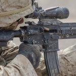 marines m27 iar rifle closeup