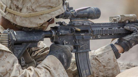 marines m27 iar rifle closeup