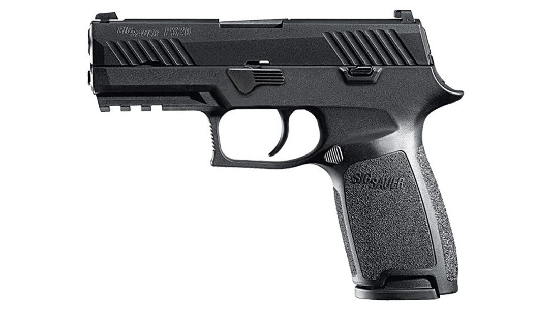 Sig Sauer P320 Nitron Carry pistol left profile