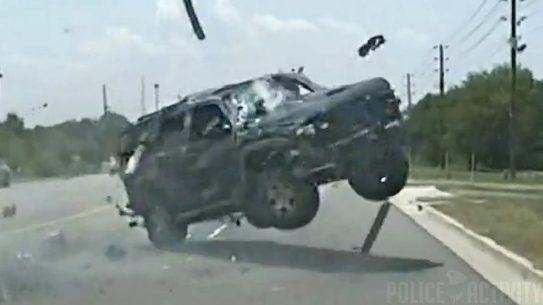 south carolina suv flips police chase