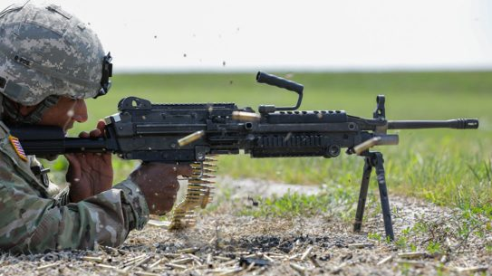 army m249 saw squad automatic rifle right profile