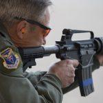 GAU-5A Aircrew Self Defense Weapon rifle firing