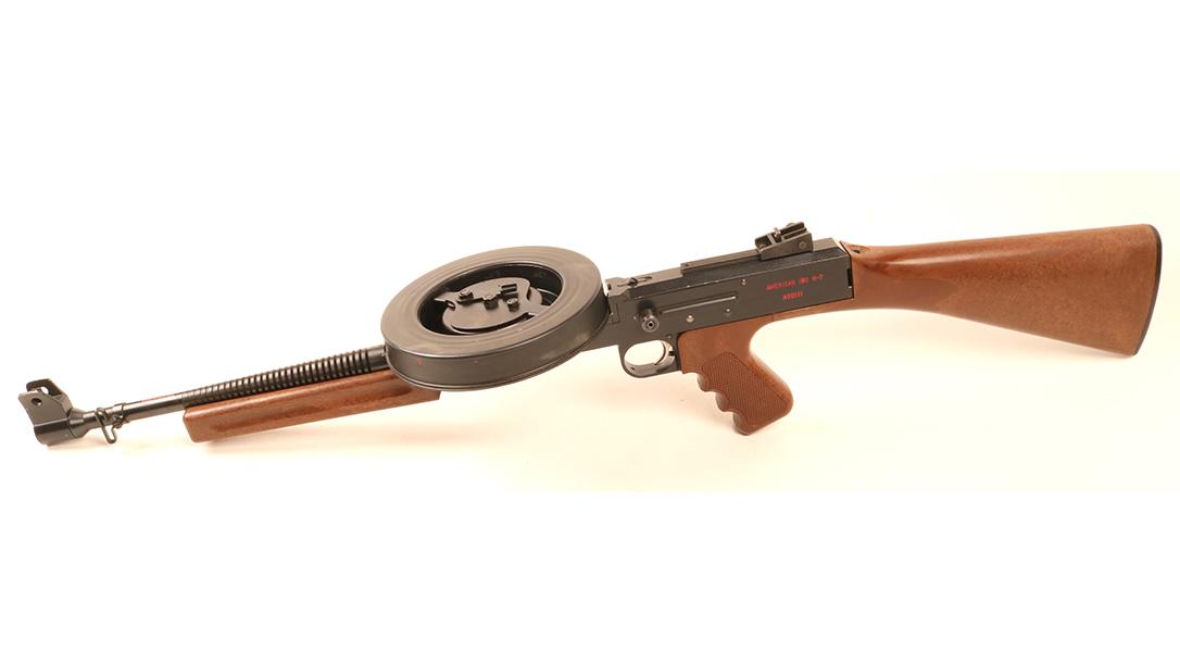 American 180, American 180 submachine gun, American 180 subgun, American 180 submachine gun left angle