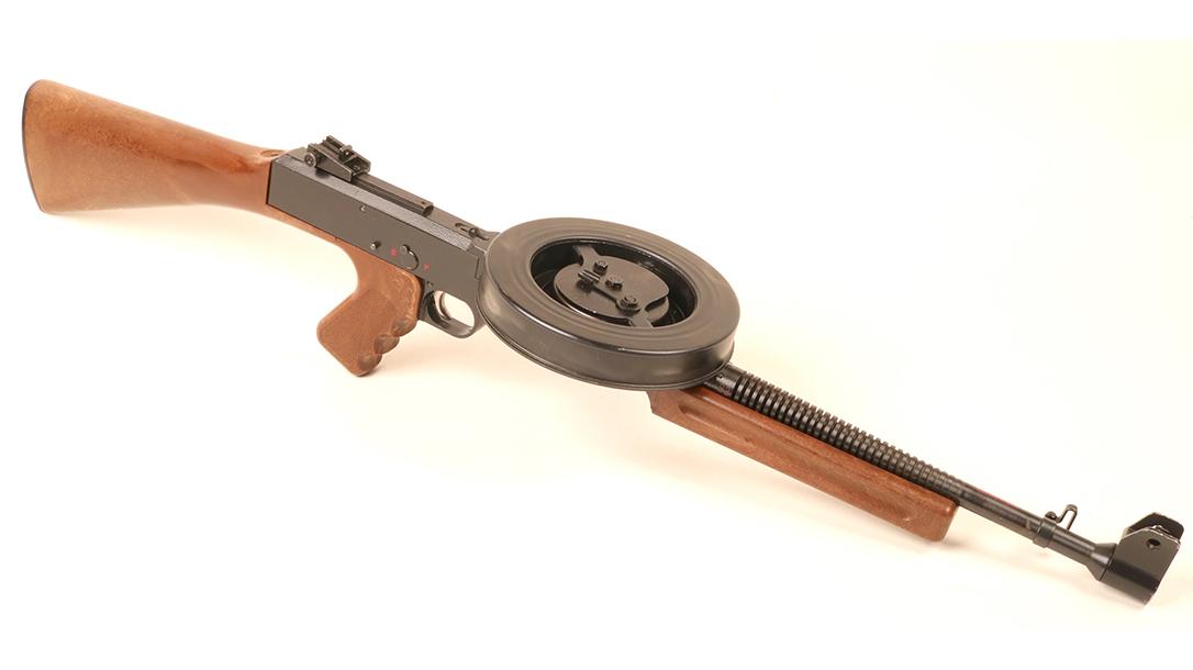 American 180, American 180 submachine gun, American 180 subgun, American 180 submachine gun right angle