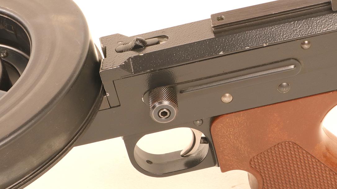 American 180, American 180 submachine gun, American 180 subgun, American 180 submachine gun charging handle