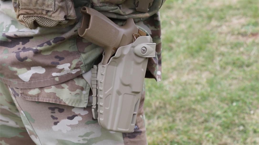 army m17 pistol holster empty