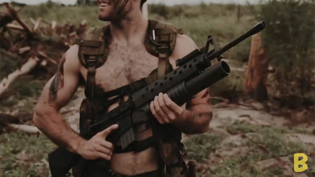 brownells lmt m203 37mm launcher attached